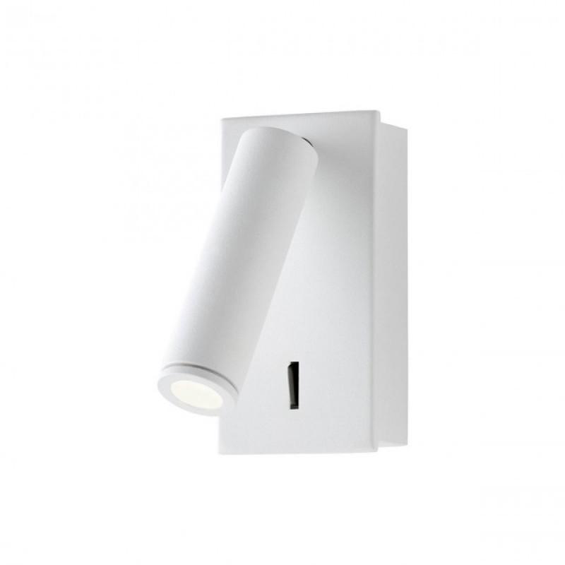 Aplica Rod pentru interior echipata cu LED COB structura din metal vopsit in camp electrostatic alb mat 01-1201 Redo