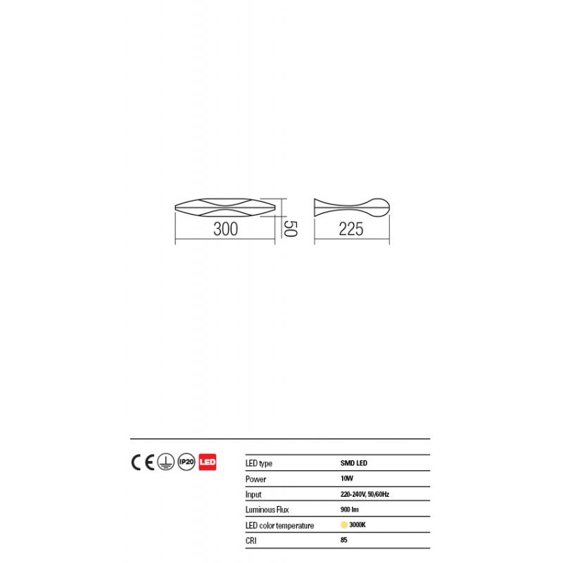 Aplica Saba din aluminiu cu Led-uri SMD 01-1446 Redo