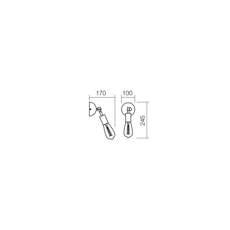 Aplica Spider structura din metal cu detalii finisate cupru 01-1258 Smarter