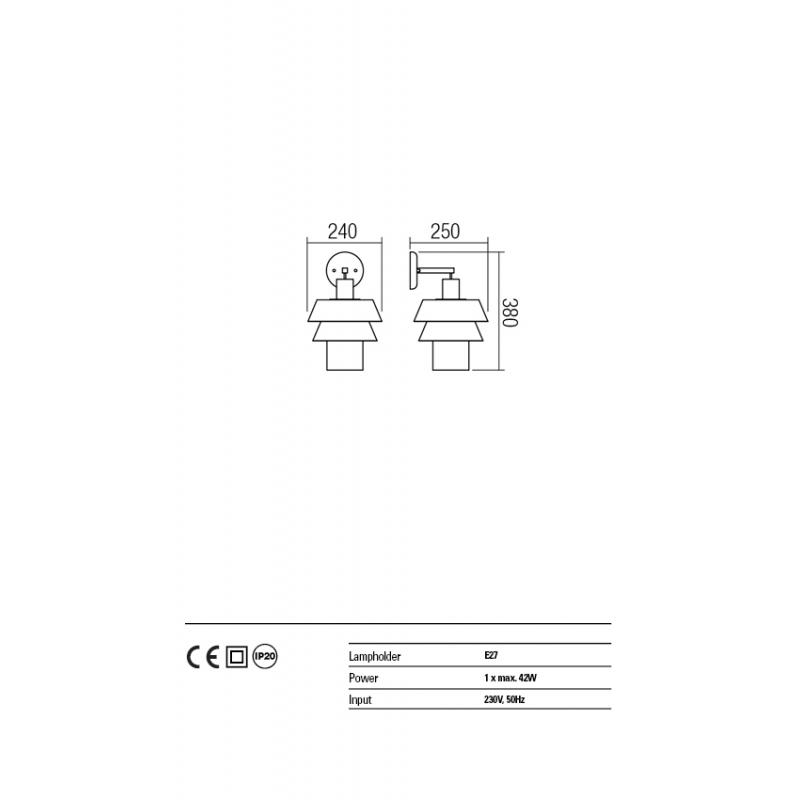 Aplica Taipi structura si abajur metalic 01-1349 Redo