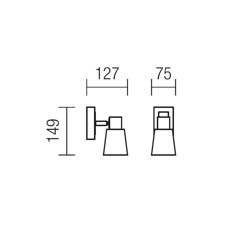 Aplica Tom 04-436, 1 x E14, wenge + alb
