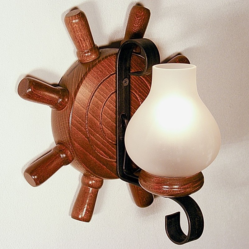 Aplica Timona din lemn de fag si abajur tip lampa 1944 Omnia