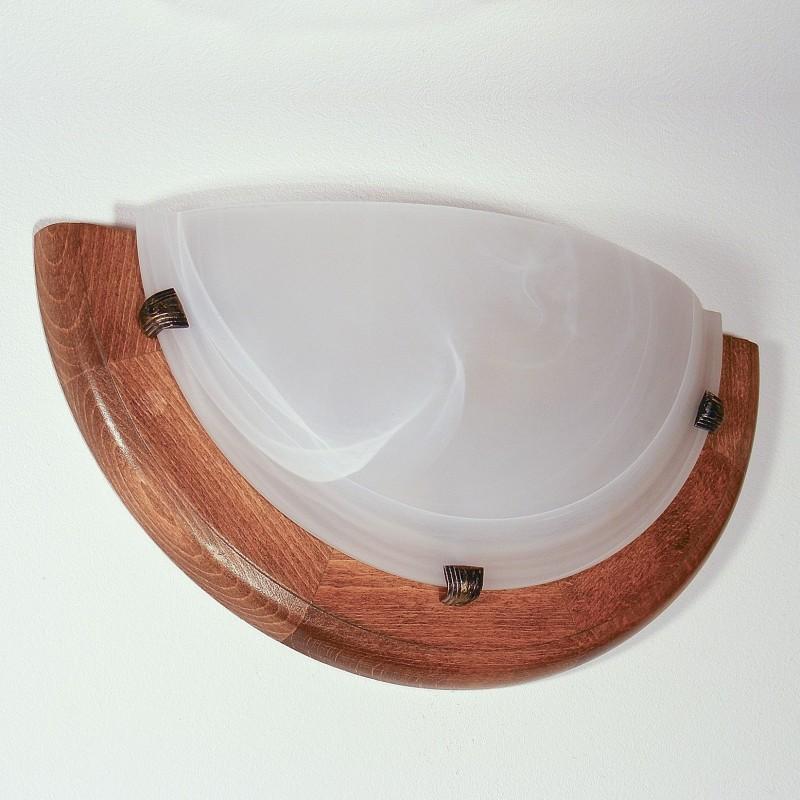 Aplica Enya din lemn de fag si sticla de murano 3061 Omnia