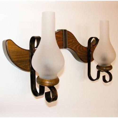 Aplica Karina din lemn de fag si abajur tip lampa 1371 Omnia