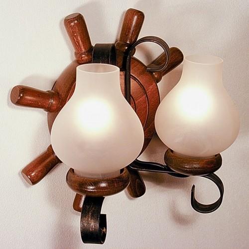 Aplica Timona din lemn de fag si abajur tip lampa 1982 Omnia