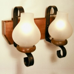 Aplica Trapez din lemn de fag si abajur tip opait 0633 Omnia
