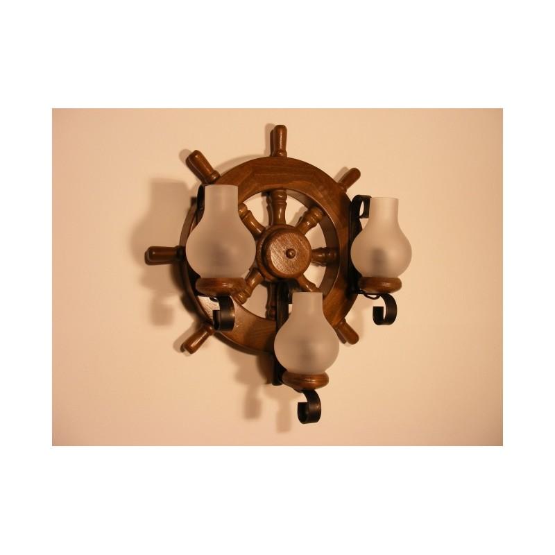 Aplica Timona din lemn de fag si abajur tip lampa Omnia