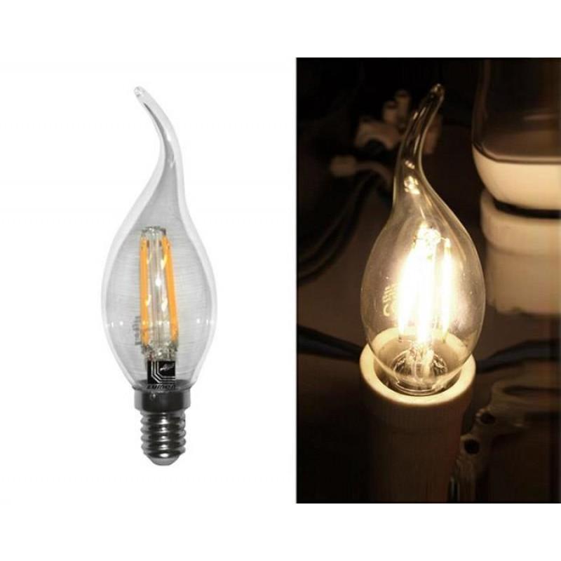 Bec LED lumanare transparent cu COG 13-14014002 E14-clar 2800k 480 lm