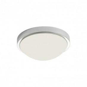 Plafoniera LED Caiman metal cromat cu dispersor din sticlă suflată alb opal 01-1113 Redo