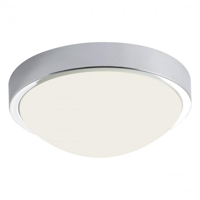 Plafoniera LED Caiman metal cromat cu dispersor din sticlă suflată alb opal 01-1114 Redo