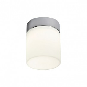 Aplica/Plafoniera LED Drip structură din metal cromat cu dispersor din sticlă suflată alb opal 01-1134 Redo