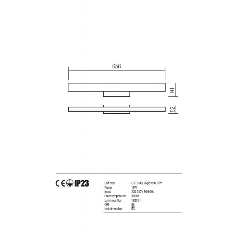 Aplica Aroua pentru baie echipata cu led 01-939 Redo