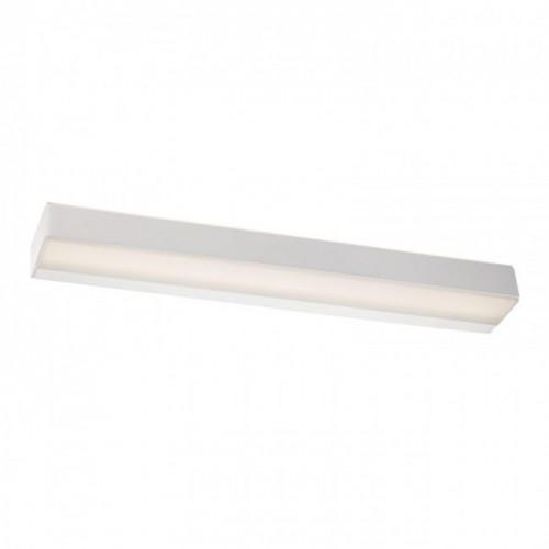 Aplica Maax pentru interior, echipată cu LED-uri SMD, structură din metal vopsită în câmp electrostatic în culoare alb mat, dispersor din acril satinat 01-942 Redo