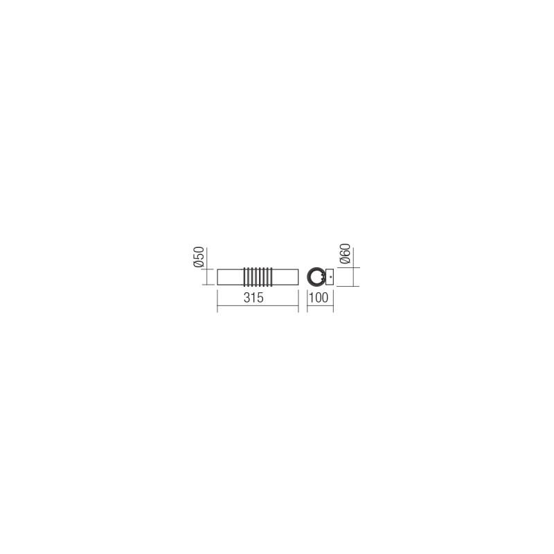 Aplica Led SMD Avance structura din metal cromat 01-1429 Smarter