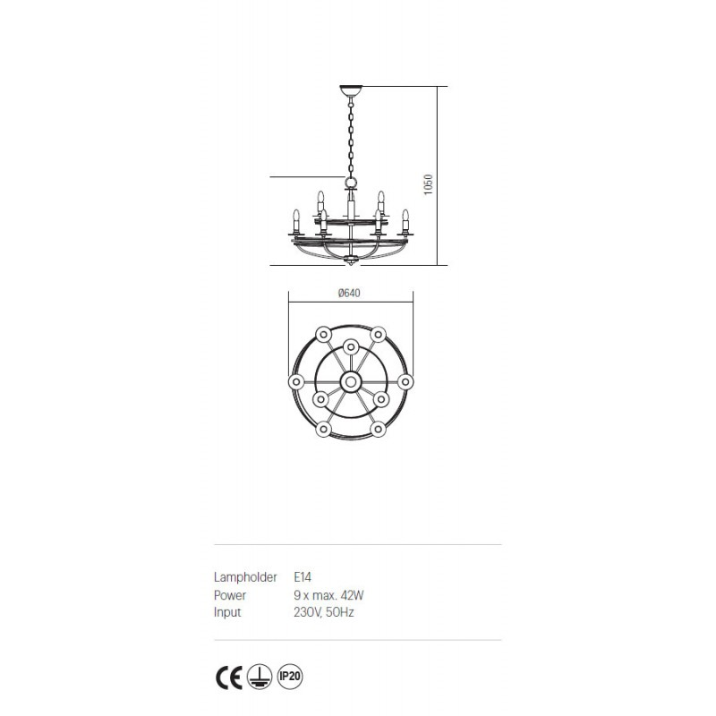 Candelabru Circus structura din metal lucrat manual ICU C9 02 Incanti
