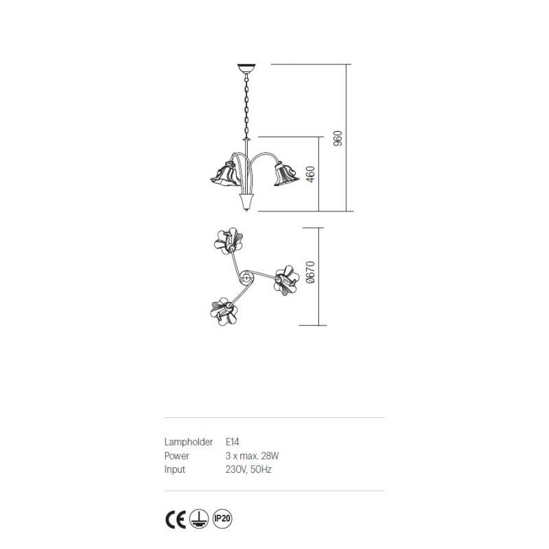Candelabru Dalila structura din metal cu detalii din fier forjat IDL C3 05 Incanti