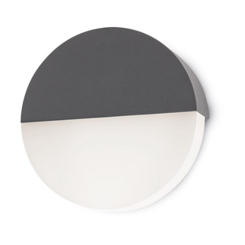 Aplica Led SMD pentru exterior Face din aluminiu gri inchis 9161 Redo