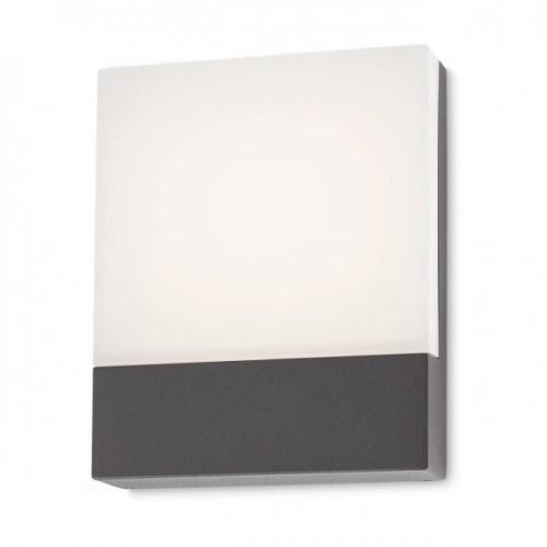 Aplica led SMD pentru exterior Face din aluminiu gri inchis 9163 Redo