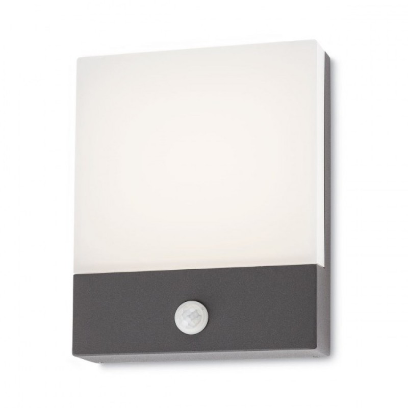 Aplica led smd si senzor de prezenta Face din aluminiu gri inchis 9164 Redo