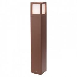 Stalp pentru exterior Brick din aluminiu culoare ruginie 9645 Redo