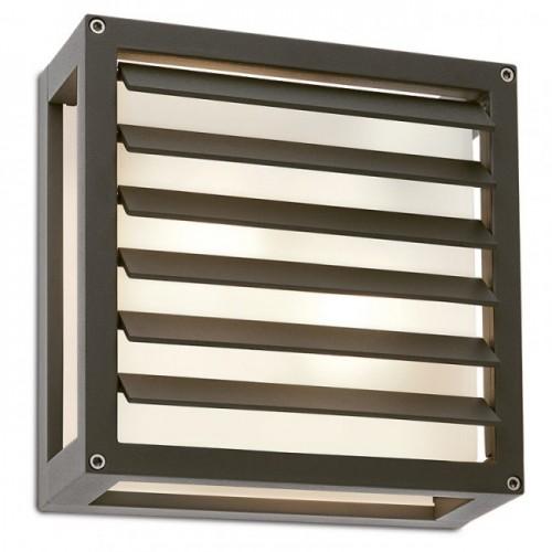 Aplica pentru exterior Brick Glass din aluminiu gri inchis 9894 Redo
