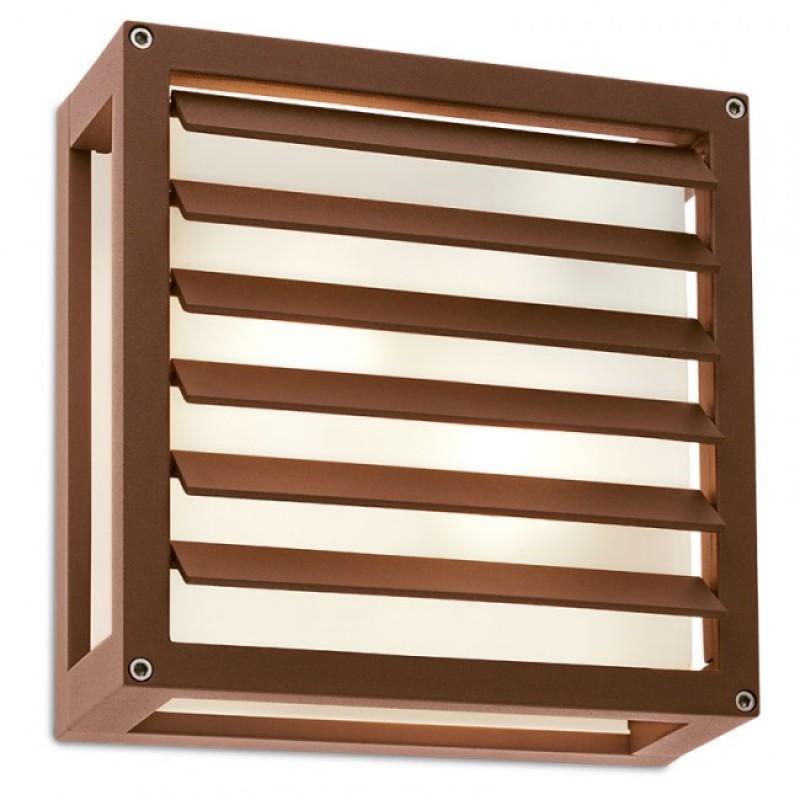 Aplica pentru exterior Brick Glass din aluminiu culoare ruginie 9895 Redo