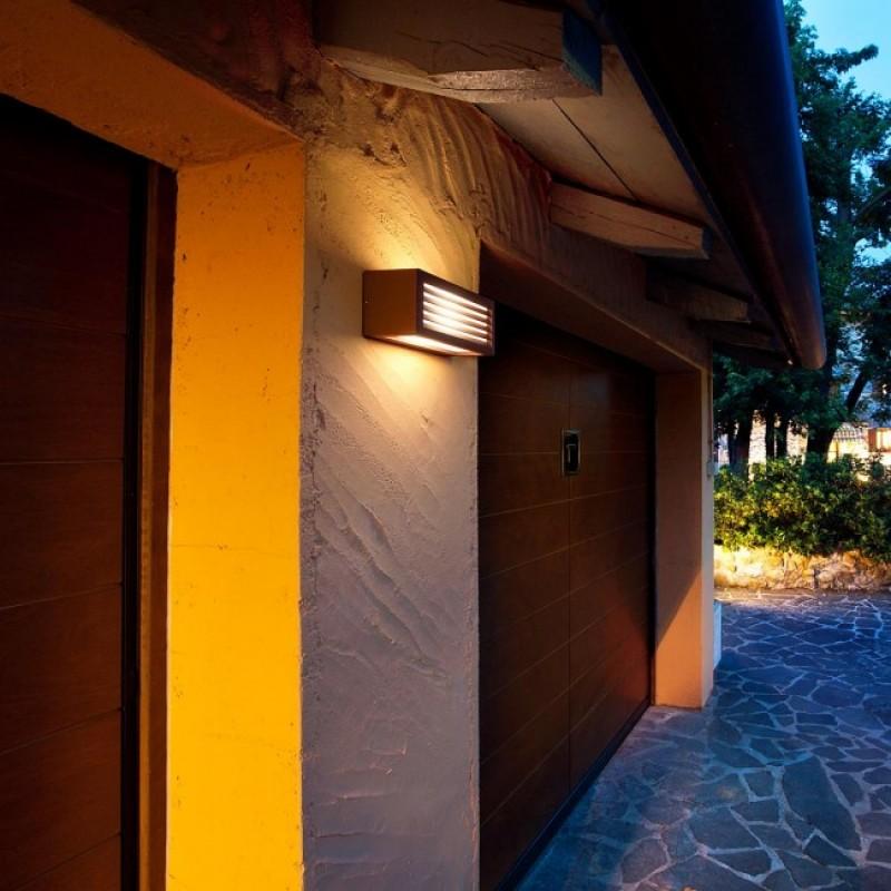 Aplica pentru exterior Brick din aluminiu culoare ruginie 9899 Redo