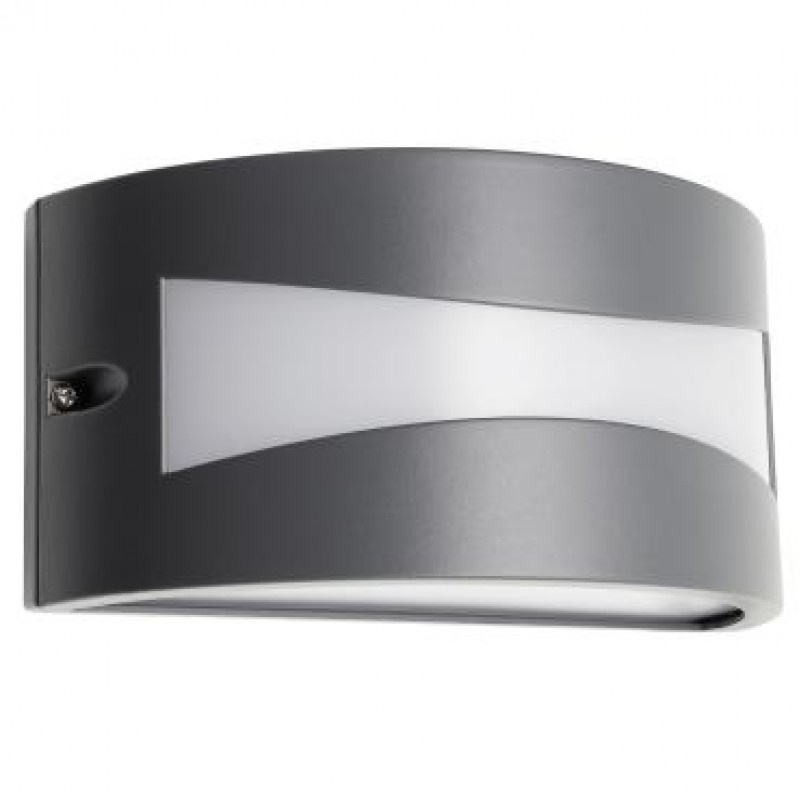 Aplica exterior LED Asti 90188, 10W, 610lm, lumina calda, IP54, gri inchis, Smarter