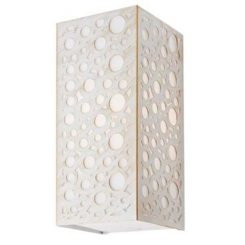 Aplica pentru interior Dalma 9008, 1 x E27, alb mat cu patina aurie, Smarter