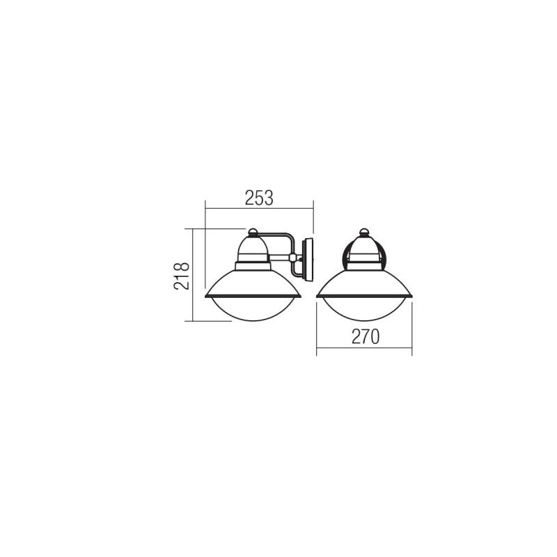Aplica pentru exterior Danubia  9094, 1 x E27, gri inchis, Smarter
