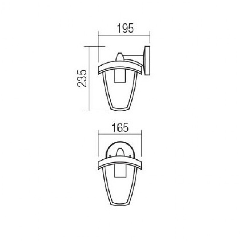 Aplica pentru iluminat exterior, orintata in jos, Edmond 9155, 1 x E27, Smarter
