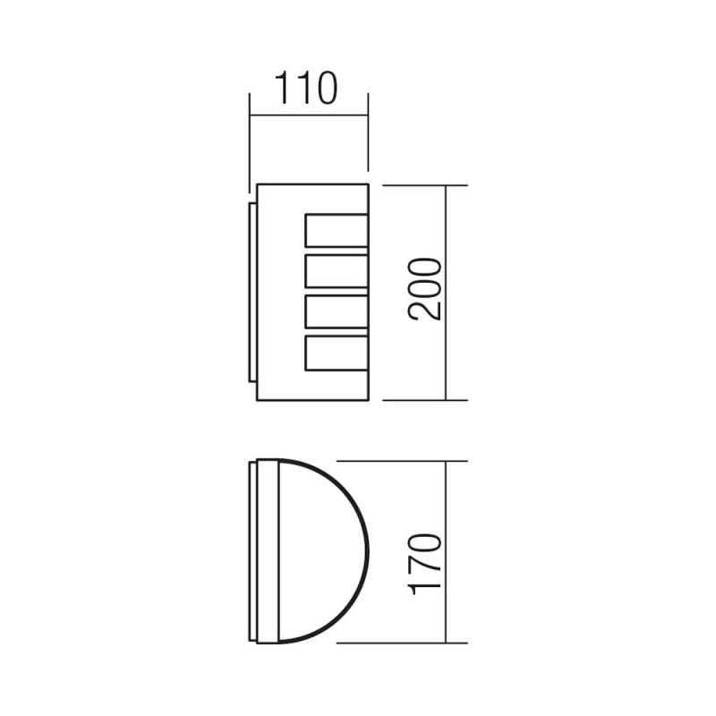 Aplica pentru exterior Evo 9001, 1 x E27, gri inchis, Smarter