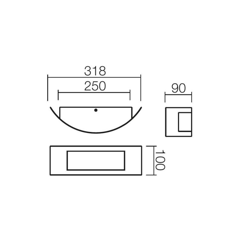 Aplica pentru exterior Linea 9356, 1 x E27, inox, Smarter