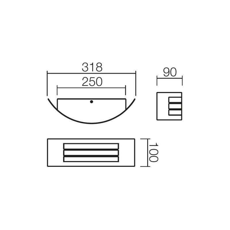 Aplica pentru exterior Linea 9357, 1 x E27, inox, Smarter