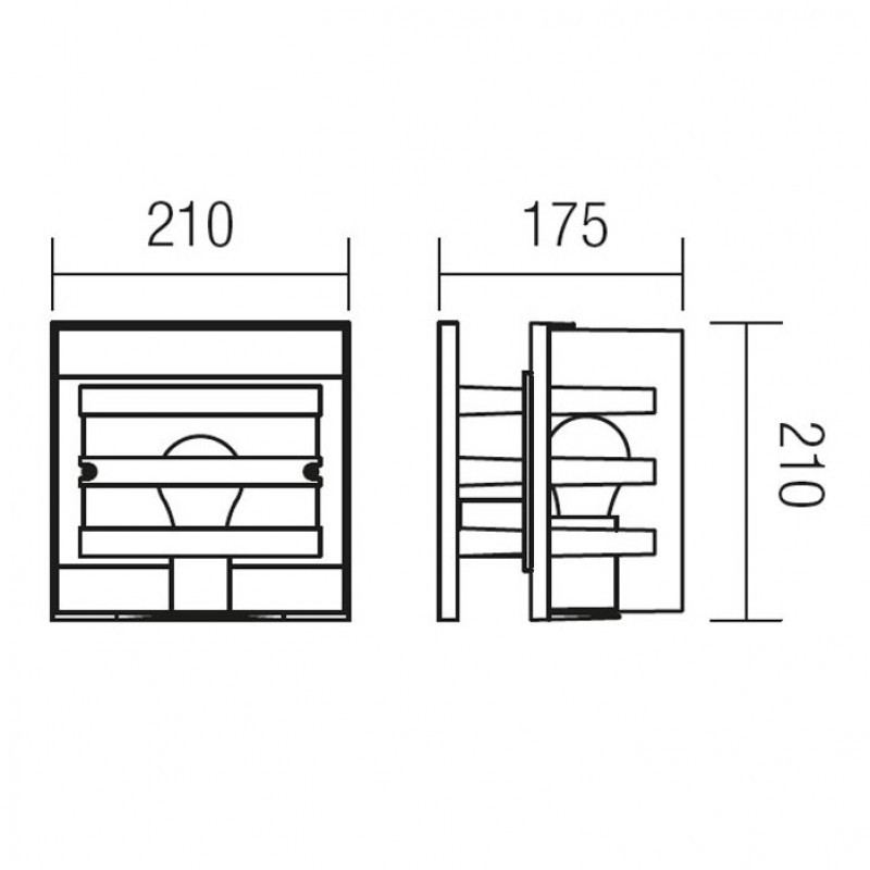 Aplica pentru exterior Marano 9397, 1 x E27,neagra, Smarter