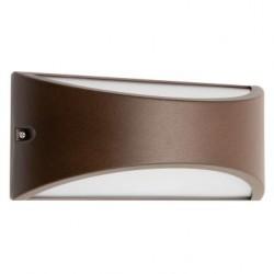 Aplica LED Scudo 90192, 10W, lumina calda, IP54, maro inchis + alb, Smarter