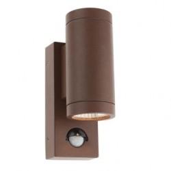 Aplica exterior cu LED Vince 9455, 2 x 3W, cu senzor, maro, Smarter
