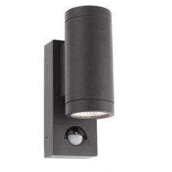 Aplica exterior cu LED Vince 9453, 2 x 3W, cu senzor, gri, Smarter