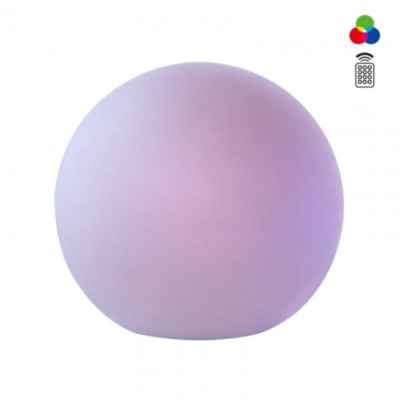 Corp decorativ exterior Balooformă sferică din polietilenă albă rezistentă la raze UV LED-uri colorate SMD și sistem RGB 9966 Redo