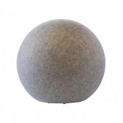 Corp decorativ exterior Baloo formă sferica din polietilena imitație granit rezistenta la raze UV E27 9967 Redo