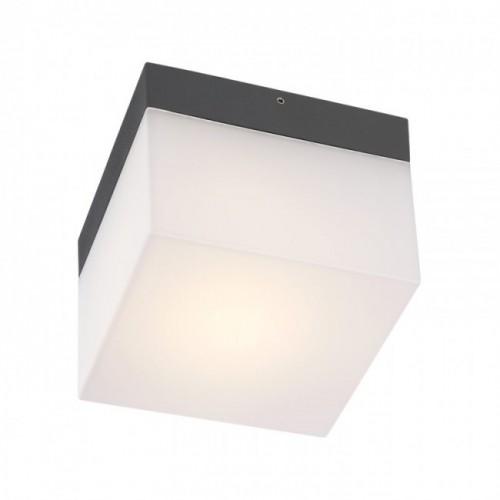Aplică/plafonieră Cube pentru exterior, corp din aluminiu culoare gri închis 9444 Redo Outdoor
