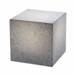 Corp de iluminat decorativ  Dados pentru exterior, dispersor de formă cubică din polietilenă imitație granit 9693 Redo Outdoor