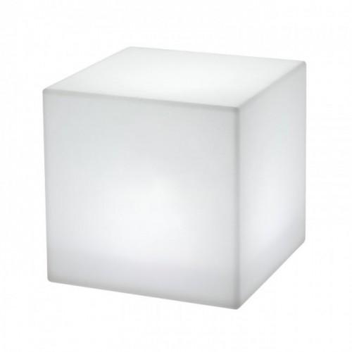 Corp de iluminat decorativ  Dados pentru exterior, dispersor de formă cubică din polietilenă albă 9990 Redo Outdoor