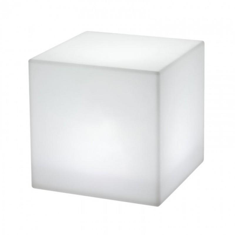 Corp de iluminat decorativ Dados pentru exterior, dispersor de formă cubică din polietilenă albă 9992 Redo Outdoor