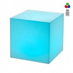 Corp de iluminat decorativ   Dados pentru exterior, dispersor de formă cubică din polietilenă albă, echipat cu LED-uri colorate SMD 9993 Redo Outdoor