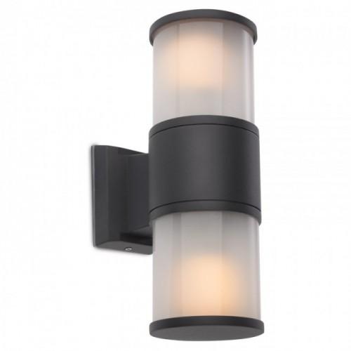 Aplică Exter exterior din aluminiu culoare gri închis dispersor din sticlă satinată. 9327 Redo Outdoor