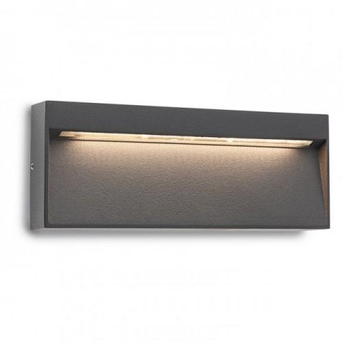 Aplica Led SMD pentru exterior Even din aluminiu gri inchis 9153 Redo