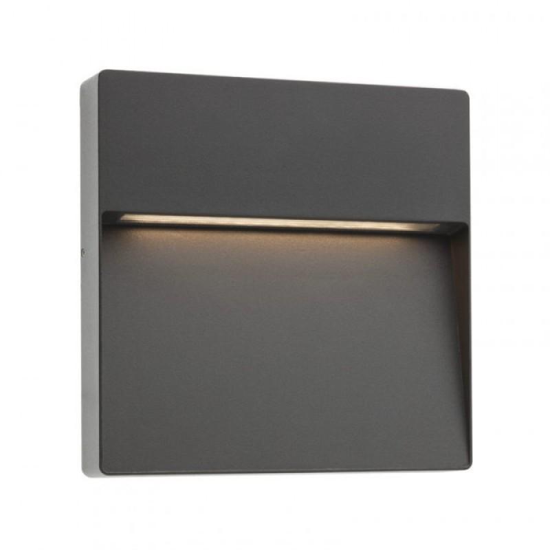 Aplica Led SMD pentru exterior Even din aluminiu gri inchis 9625 Redo