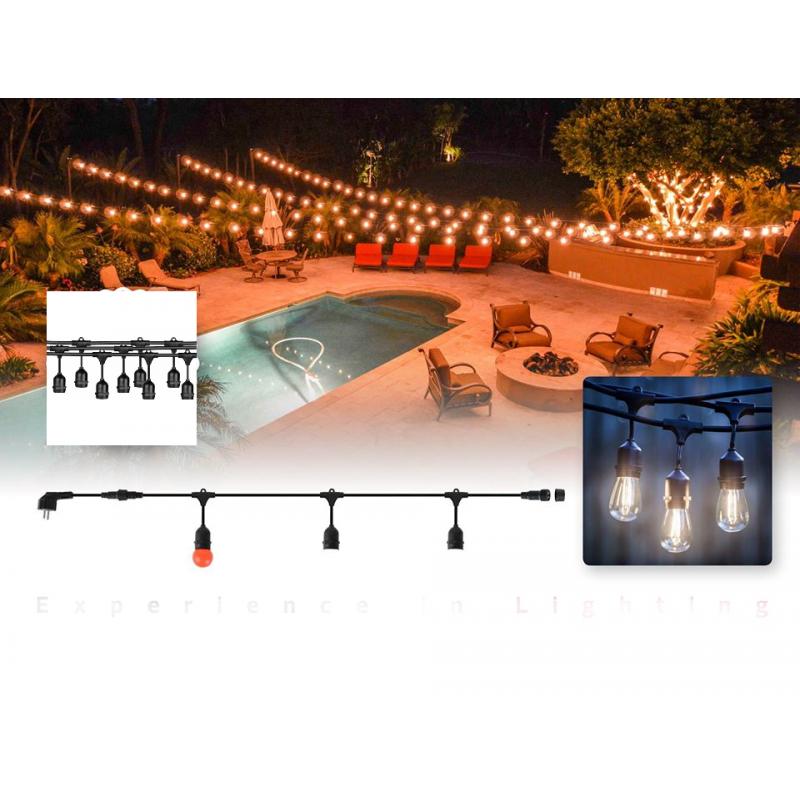 Cablu ghirlanda luminoasa Carnaval-2 Horoz Electric pentru exterior/interior