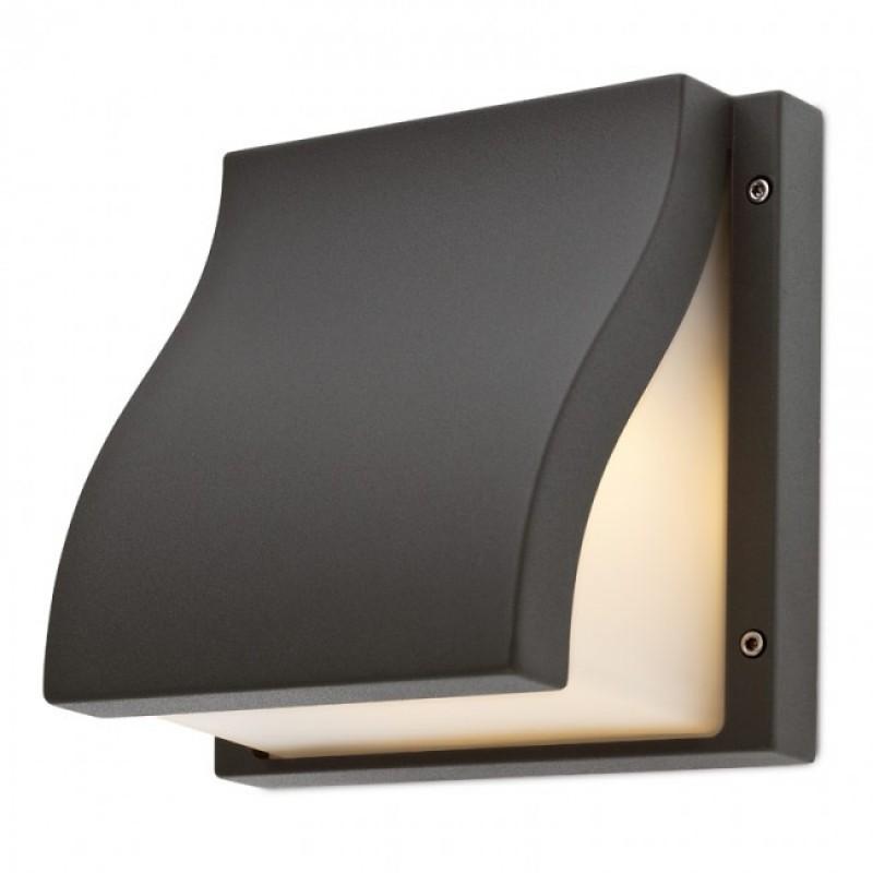 Aplică Book pentru exterior, corp din aluminiu de culoare gri inchis 9890 Redo Outdoor